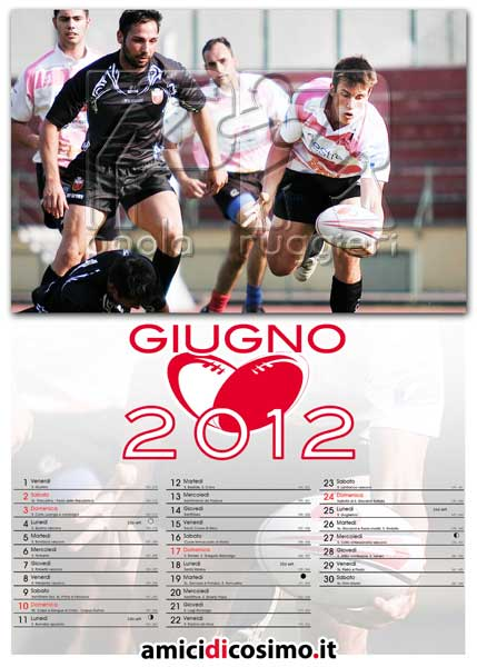 June, I Cavalieri Prato and Italian Firefighters Rugby Team