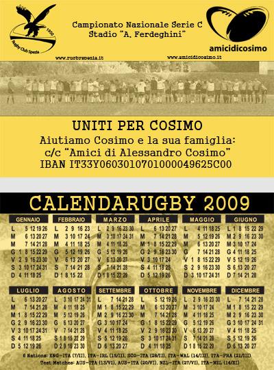Calendario Del 2000.Amici Di Cosimo Calendario Del Rugby