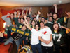 Paola partying with her friends for the XLV Superbowl won in Green Bay